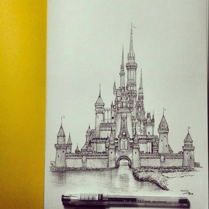 Gorgeous Castle Pencil Drawing for Beginners Pin By Karen Gonzalez On Ceramics And 3D Art Ideas In 2019 | Disney Pic