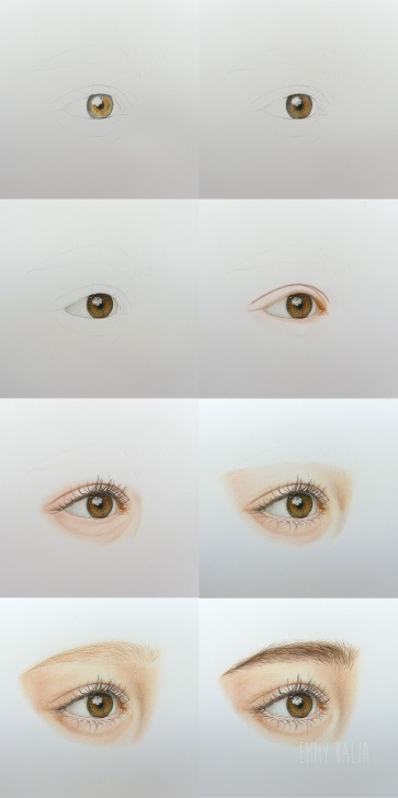 Gorgeous Colored Pencil Drawings Step By Step Step by Step Video - How To Draw A Realistic Eye With Colored Pencils Step By Photo