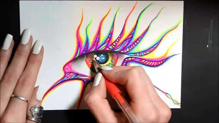 Gorgeous Cool Pen Art Techniques Gel Pen Art- Eye Pic