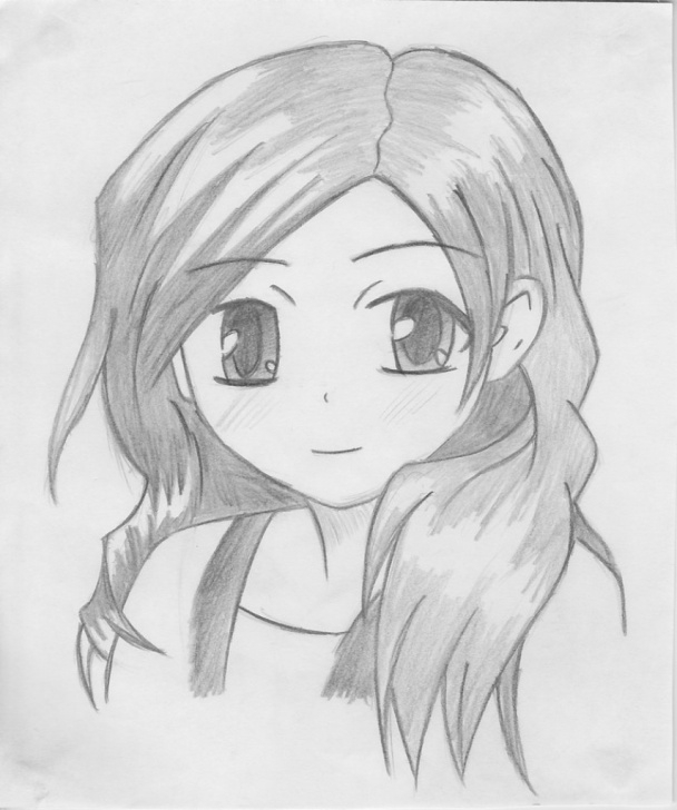 Gorgeous Cute Girl Pencil Sketch Techniques for Beginners Cute Girl Sketch Images At Paintingvalley | Explore Collection Image