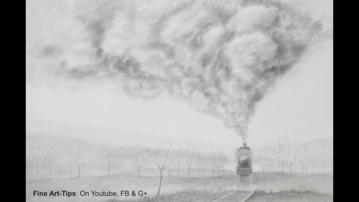 Gorgeous Drawing Smoke With Pencil Ideas How To Draw Smoke - How To Draw A Realistic Train Photo