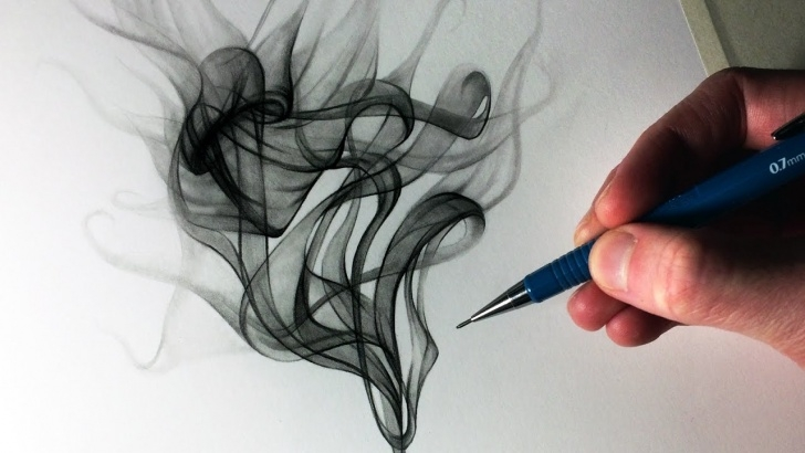 Gorgeous Drawing Smoke With Pencil Simple How To Draw Smoke Pic