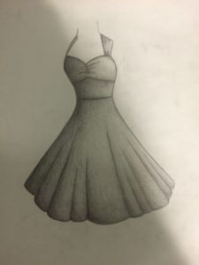 Gorgeous Dress Pencil Drawing Tutorial My Graduation Dress. Pencil Drawing. Sketch. Leave Feed Back Photo