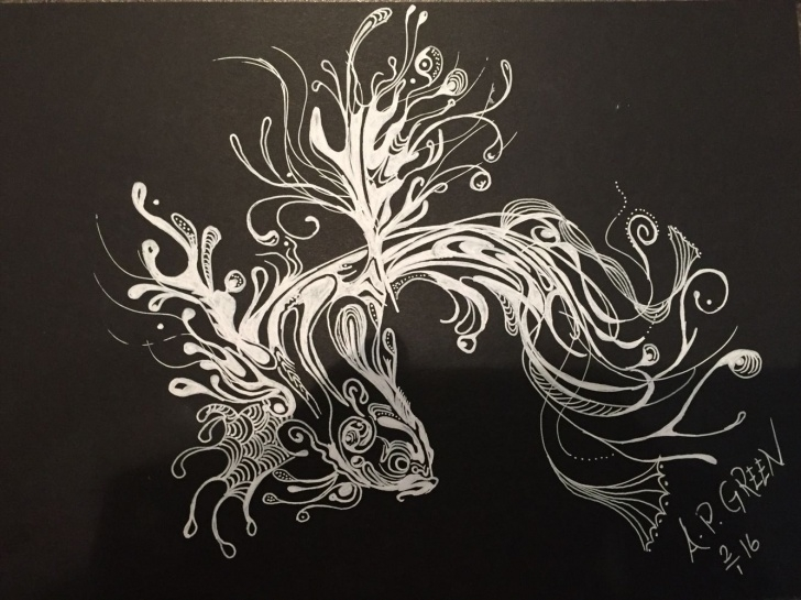 Gorgeous Easy Drawing On Black Paper With White Pencil Simple Very Easy To Draw And Funny Drawing With White On Black Paper Pictures