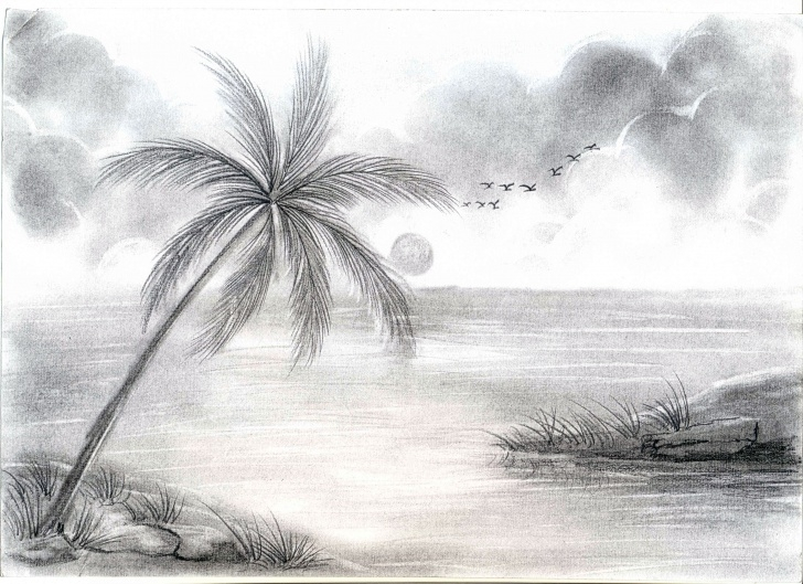 Gorgeous Easy Landscape Pencil Shading Simple Pencil Shading Drawing Images At Paintingvalley | Explore Images