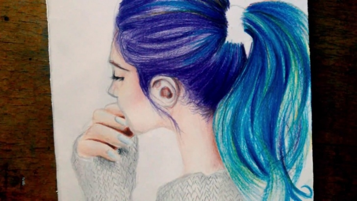 Gorgeous Easy Pencil Colour Drawing Easy Drawing Hair Tutorial Easy With Colored Pencil Pics