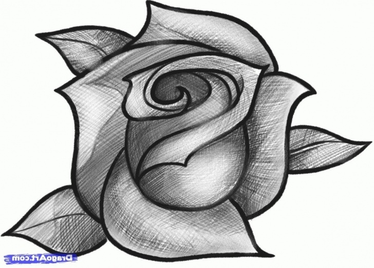 Gorgeous Easy Pencil Shading Drawings Of Flowers for Beginners Easy Pencil Shading Drawings Flower And Easy Sketches Of With Pics