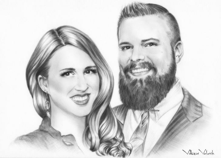 Gorgeous Family Sketches With Pencil Simple Custom Family Portrait, Pencil Drawing From Your Photo, Skech, Realistic,  Portraits By Commission, Art, Family Portrait, Free Digital Format Images