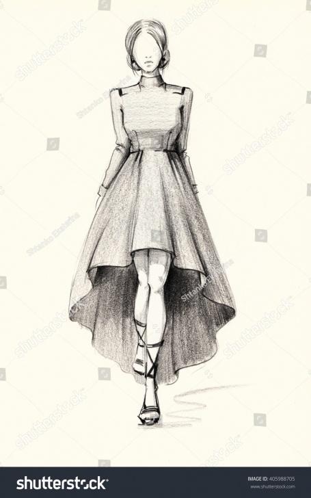 Gorgeous Fashion Illustration Pencil Sketches Free Fashion Illustration Stylish Image Sketch Dress Stock Illustration Pics