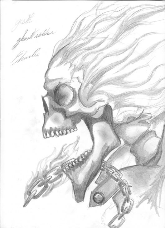 Gorgeous Ghost Pencil Drawing Techniques for Beginners Ghost Rider Sketch At Paintingvalley | Explore Collection Of Photos