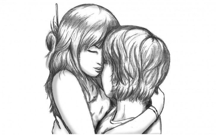Gorgeous Girl And Boy Pencil Drawing Techniques 68+ Sketch Wallpapers On Wallpaperplay Pic
