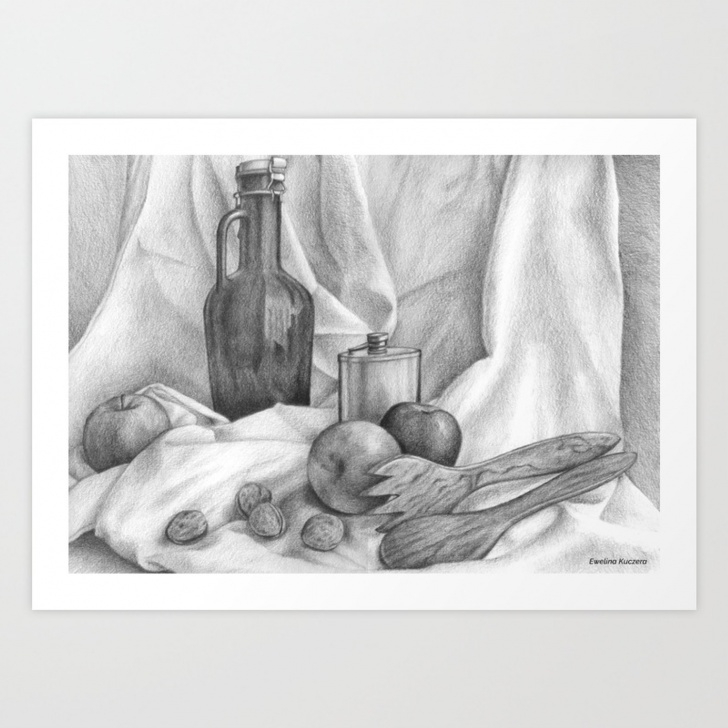Gorgeous Graphite Still Life Techniques Still Life Graphite Drawing Art Print Images