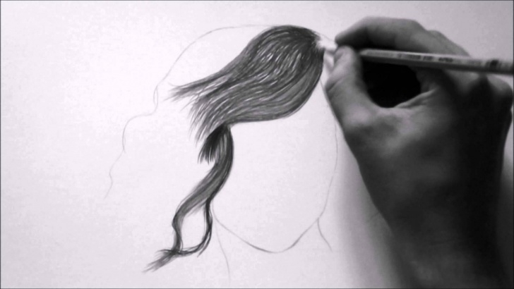 Gorgeous Hair Pencil Sketch for Beginners Hair Pencil Sketch At Paintingvalley | Explore Collection Of Photos