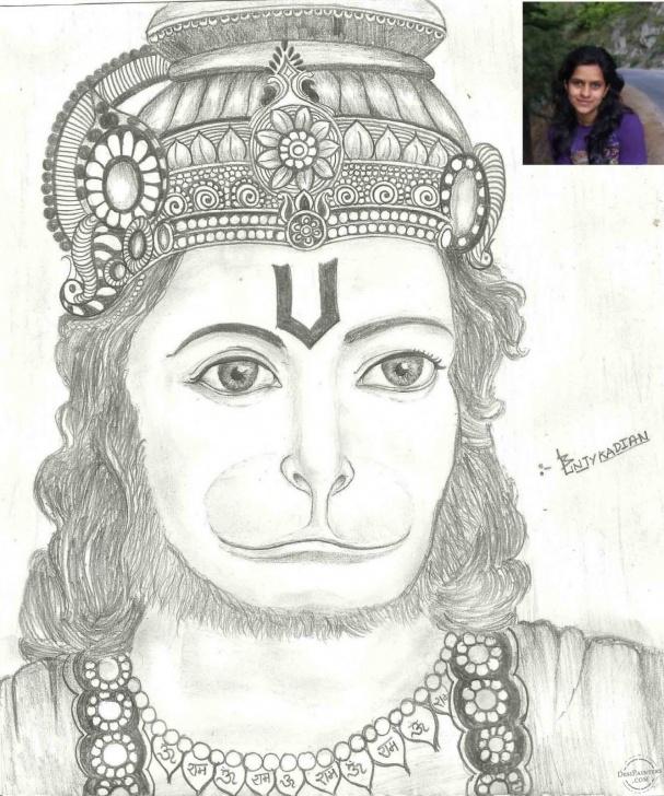 Gorgeous Hanuman Pencil Sketch Courses Pencil Sketch Of Lord Hanuman | Desipainters Pictures