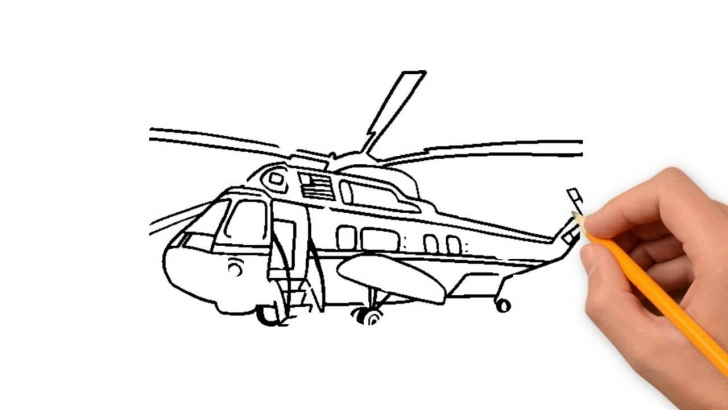 Helicopter Pencil Drawing