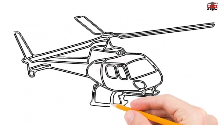 Gorgeous Helicopter Pencil Drawing Techniques How To Draw A Helicopter Step By Step Easy For Beginners/kids – Simple  Helicopters Drawing Tutorial Photo