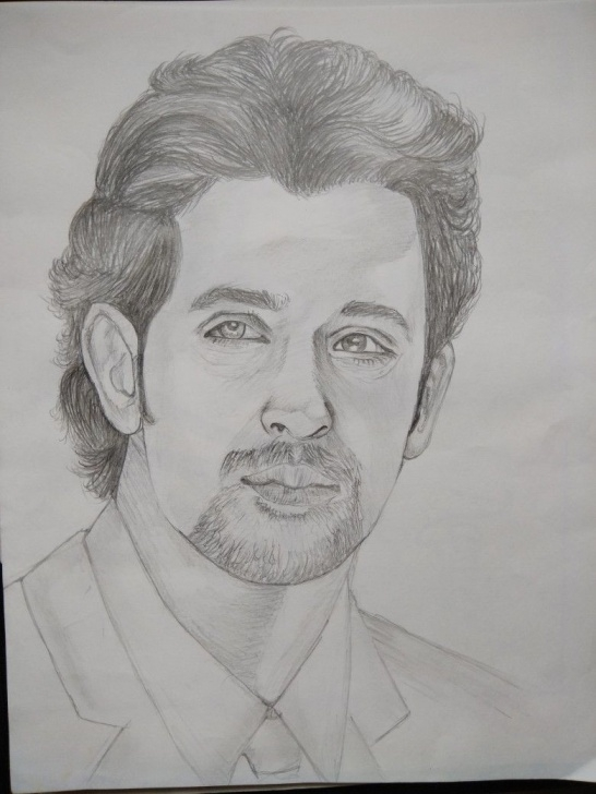 Hrithik Roshan Pencil Sketch