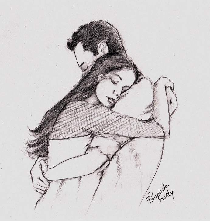 Hug Pencil Sketch