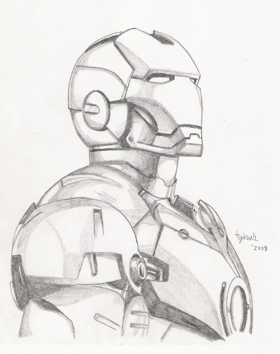 Iron Man Drawing In Pencil