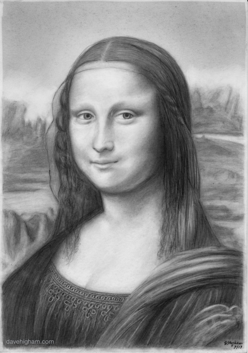Mona Lisa Pencil Drawing