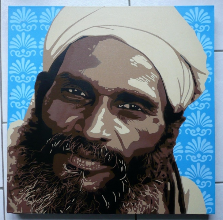 Gorgeous Multi Layer Stencil Art Techniques for Beginners Indian Man - Multilayer Stencil Art | Indian Man Spray Paint… | Flickr Pictures