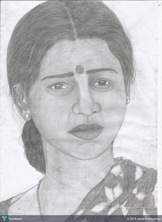 Gorgeous Normal Pencil Sketch Tutorials Jackhi Pencil Drawing (An Normal Indian Women..) | Touchtalent - For Pics
