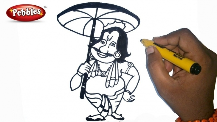 Gorgeous Onam Pencil Drawings Tutorial How To Draw Happy Onam Drawing For Kids Step By Step For Kids | Onam  Drawing For Kids Pic