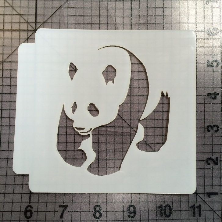 Gorgeous Panda Stencil Art Easy Panda Stencil 101 Photo