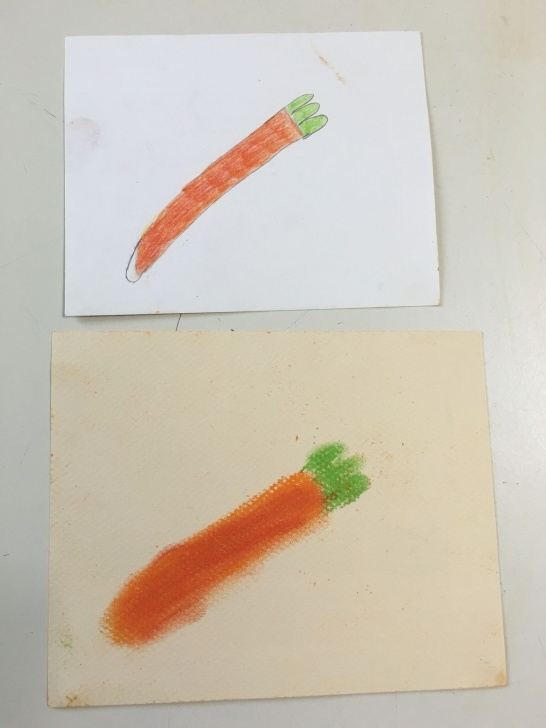 Gorgeous Pencil Cutting Art Easy Pencil And Pastel Carrot Drawing 5/23/16 4A | Art 1 4A | Carrot Picture