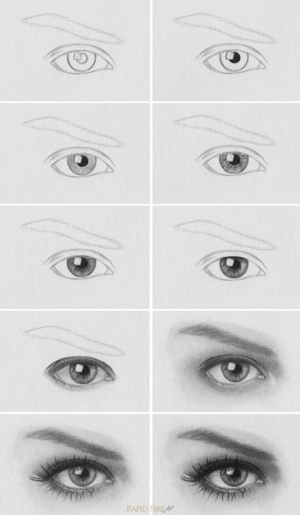 Gorgeous Pencil Drawing For Beginners Step By Step Easy How To Draw A Realistic Eye | Art By Me | Drawings, Art, Pencil Drawings Photos