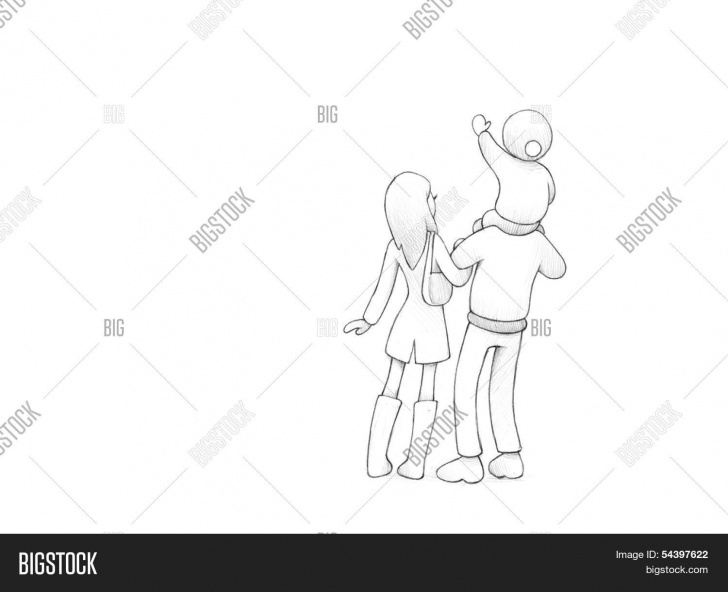 Gorgeous Pencil Drawings Of Happy Family Easy Pencil Drawing Happy Image & Photo (Free Trial) | Bigstock Image