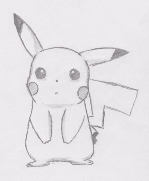 Gorgeous Pikachu Pencil Drawing for Beginners Sooo Cute Pikachuu ;3 | Drawings In 2019 | Disney Drawings Sketches Pics