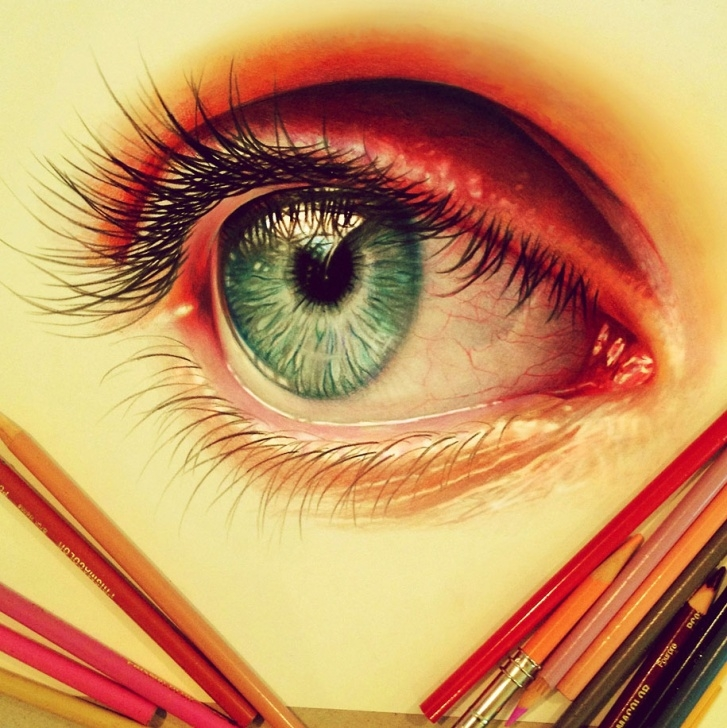 Gorgeous Realistic Colored Pencil Drawings Techniques for Beginners 22-Year-Old Artist Creates Hyper-Realistic Pencil Drawings Bursting Images