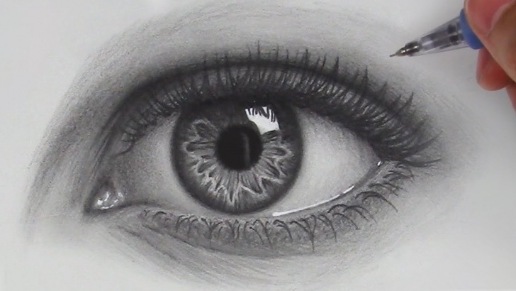 Gorgeous Realistic Eye Pencil Drawing Free How To Draw Hyper Realistic Eyes | Step By Step Pic