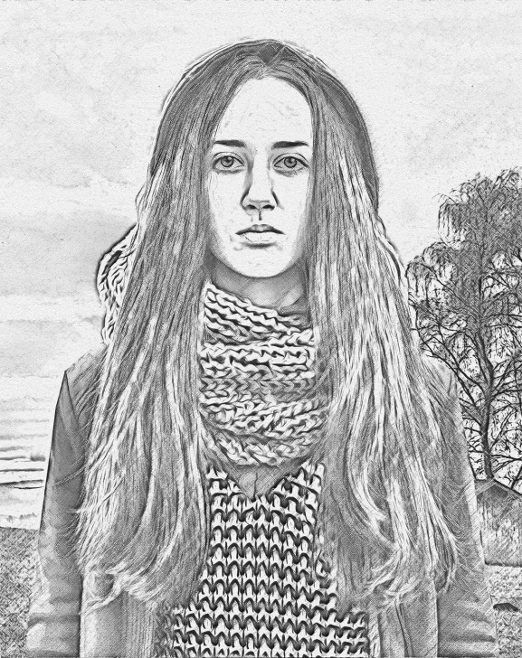 Gorgeous Realistic Pencil Art Step by Step Realistic Pencil Sketch Photoshop Action Vol.2 Picture