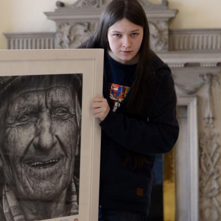 Gorgeous Shania Mcdonagh Artist Tutorial Pencil Portrait Wins Texaco Art Prize For Mayo Teenager Image