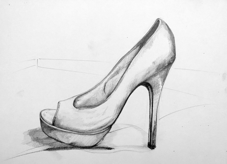 Gorgeous Shoe Pencil Drawing Techniques for Beginners Shoes 1 Drawing By Vella | Artmajeur Photos