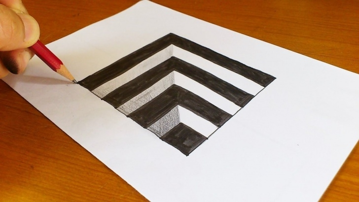 Gorgeous Simple 3D Drawings On Paper With Pencil Tutorials How To Draw 3D Drawings On Paper Step By Step Easy Very Easy!! How Pic
