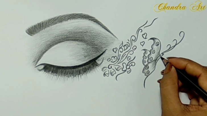 Gorgeous Simple Drawing Pencil Ideas Cool Easy Drawing - Pencil Drawing A Beautiful Eye! Photo