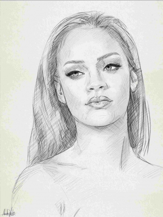 Gorgeous Simple Portrait Drawing Techniques for Beginners Simple Portrait Drawing At Paintingvalley | Explore Collection Pictures