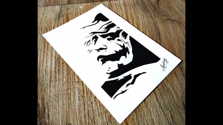 Gorgeous Stencil Art Drawing Step by Step How To Draw The Joker - Stencil Art - The Dark Knight Photo