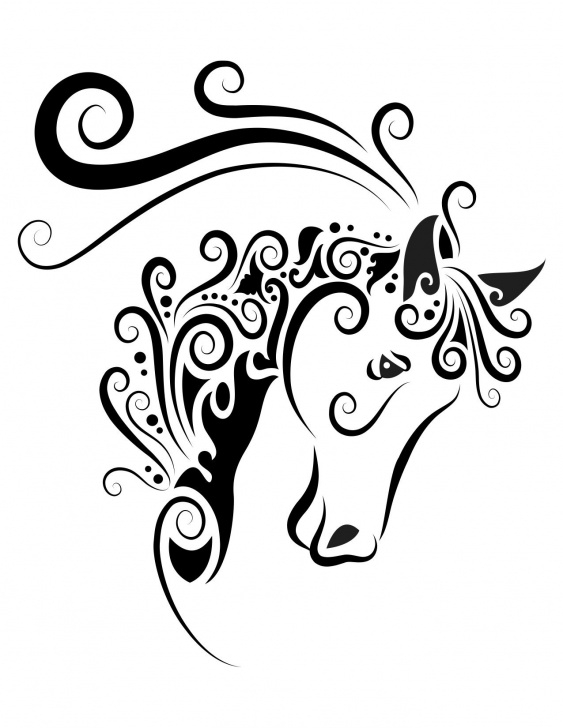 Gorgeous Stencil Art Easy Free Horse Head Painting | Clipart | Horse Artwork, Silhouette Clip Art Photos