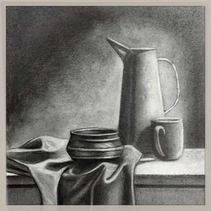 Gorgeous Still Life Drawings In Pencil With Shading Lessons Natureza Morta - Textura | Рисунок | Pencil Art, Pencil Sketch Photos