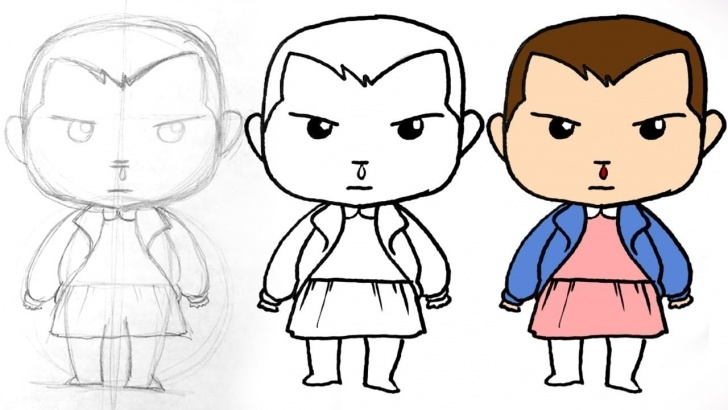 Gorgeous Stranger Things Drawing Easy for Beginners Eleven Drawing Lesson. Learn How To Draw Jane From Stranger Things Photos