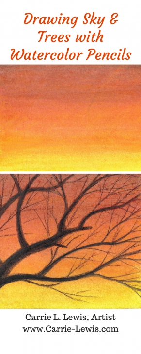 Gorgeous Sunset With Colored Pencils Free How To Draw A Sunset Sky With Watercolor Pencils | Colored Pencil Image