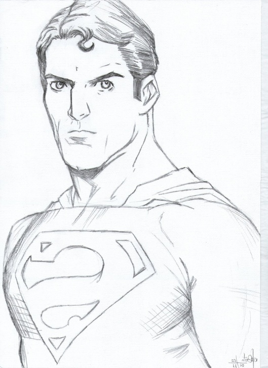 Gorgeous Superman Drawing In Pencil Free Superman Drawing At Paintingvalley | Explore Collection Of Photo