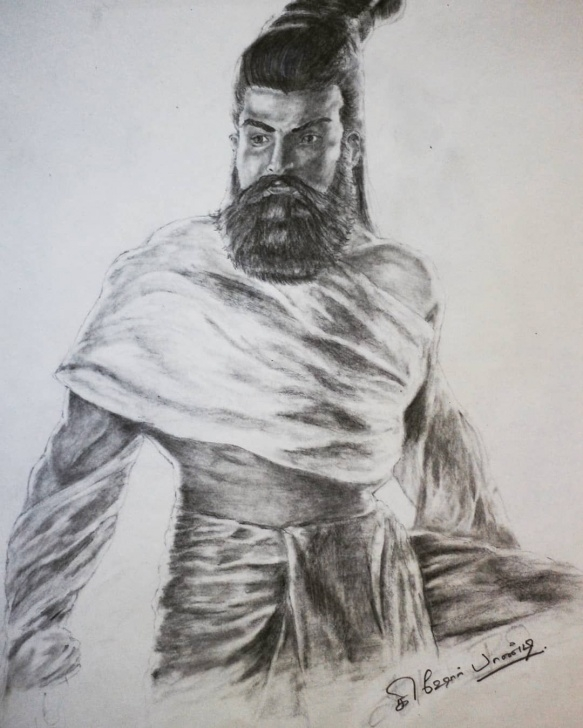Thiruvalluvar Pencil Drawing