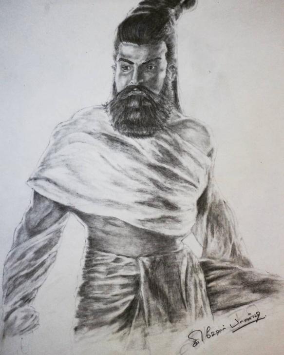 Gorgeous Thiruvalluvar Pencil Drawing Tutorial வள்ளுவன்? . . . . . . . . #தமிழன் . #art Pic