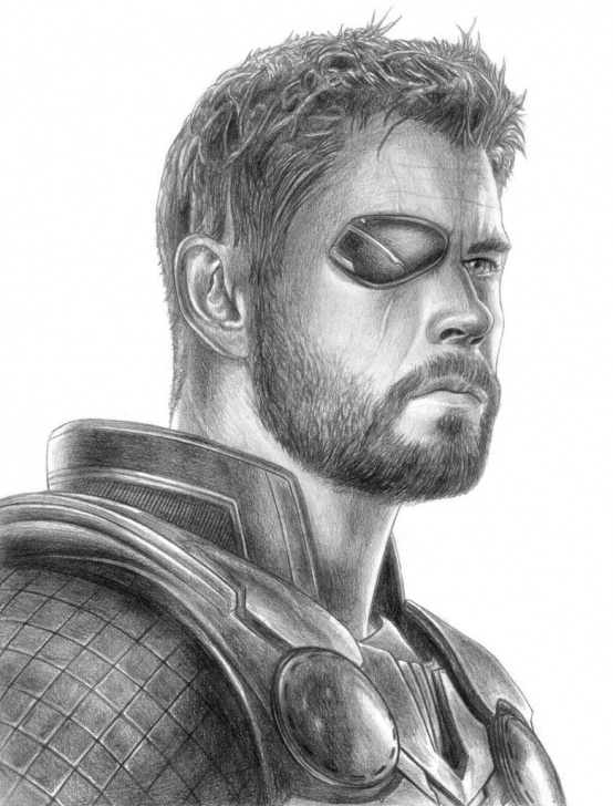 Gorgeous Thor Pencil Drawing Techniques Thor Avengers Drawing At Paintingvalley | Explore Collection Of Picture
