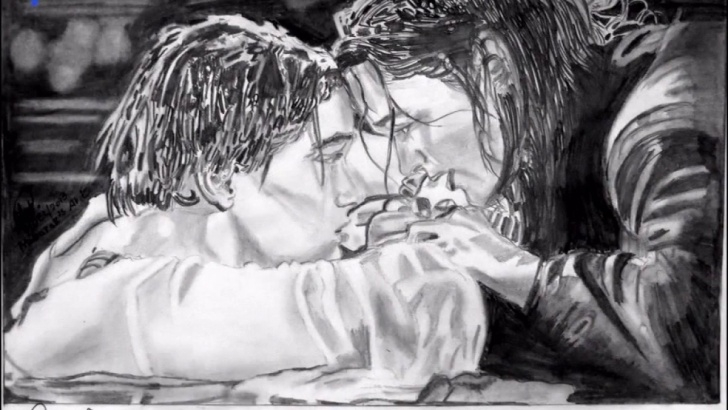 Gorgeous Titanic Pencil Drawing Tutorial Titanic Rose Drawing At Paintingvalley | Explore Collection Of Images